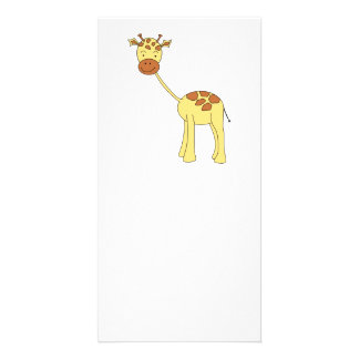 Cute Giraffe. Cartoon. Photo Card