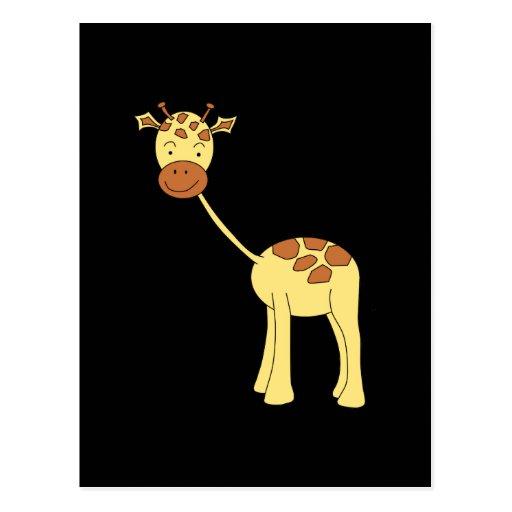 Cute Giraffe. Cartoon. Post Cards