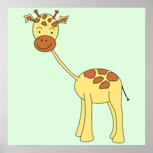 Cute Giraffe. Cartoon. Poster