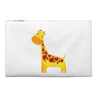 Cute giraffe cartoon travel accessory bag