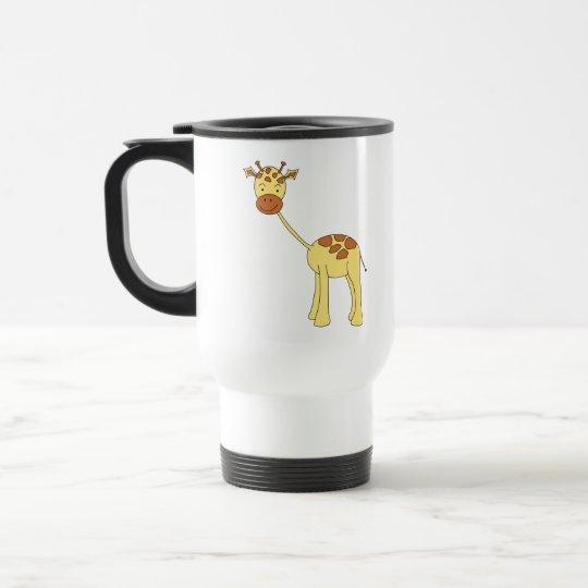 Cute Giraffe. Cartoon. Travel Mug
