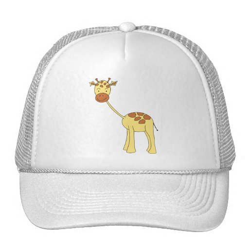 Cute Giraffe. Cartoon. Trucker Hat