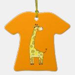 Cute giraffe christmas tree ornaments