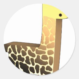 Cute Giraffe Classic Round Sticker