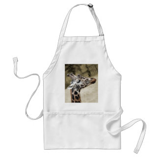 Cute Giraffe Close-up Of Head and Neck Adult Apron