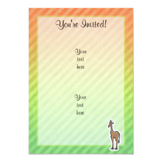 Cute Giraffe; Colorul Card