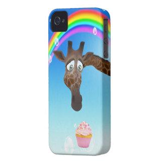 Cute Giraffe Cupcake Rainbow iPhone 4 Case