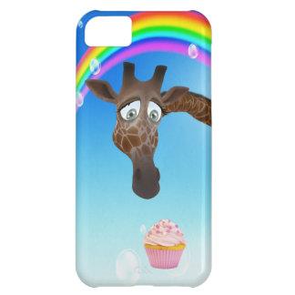 Cute Giraffe Cupcake Rainbow iPhone 5C Cases
