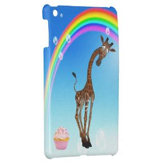 Cute Giraffe Cupcake Rainbow iPad Mini Cases