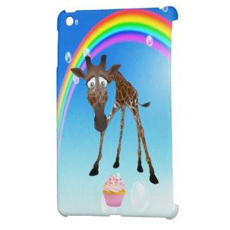 Cute Giraffe Cupcake Rainbow iPad Mini Case