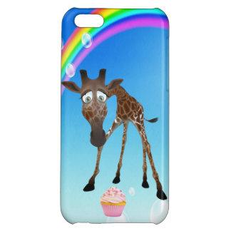 Cute Giraffe Cupcake Rainbow iPhone 5C Cover