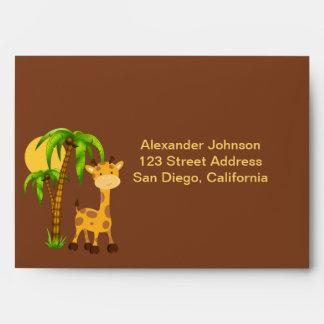 Cute Giraffe Envelope