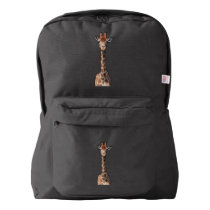 Cute giraffe face american apparel™ backpack