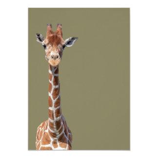 Cute giraffe face card