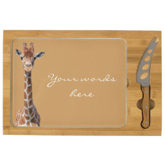 Cute giraffe face cheese board
