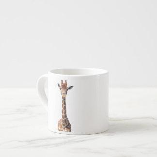Cute giraffe face espresso cup