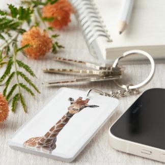 Cute giraffe face keychain