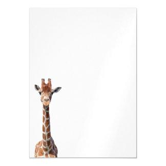 Cute giraffe face magnetic invitations