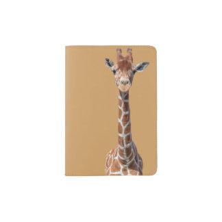 Cute giraffe face passport holder