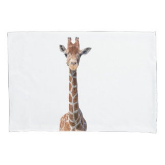 Cute giraffe face pillow case