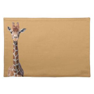 Cute giraffe face placemat