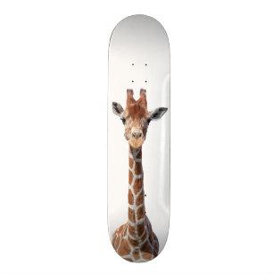 Cute giraffe face skateboard