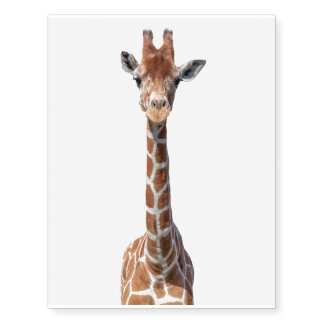 Cute giraffe face temporary tattoos