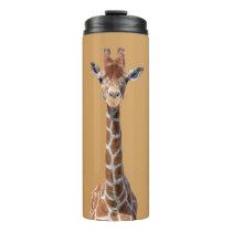 Cute giraffe face thermal tumbler
