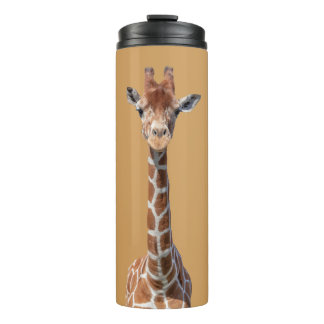 Cute giraffe face thermal tumbler