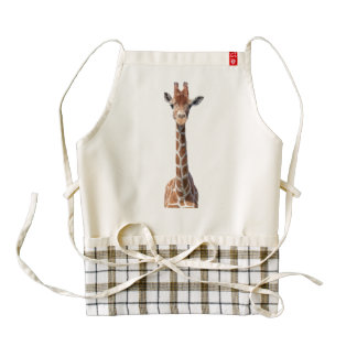 Cute giraffe face zazzle HEART apron