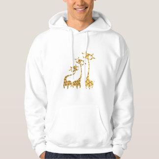 Cute Giraffe Family - Savannah Animals Hoodie