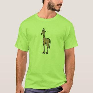 Cute Giraffe; Green T-Shirt