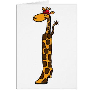 Cute Giraffe in a Boot Design Cards
