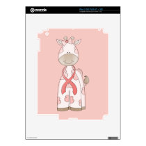 Cute Giraffe iPad 2 Decal