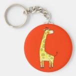 Cute giraffe key chain