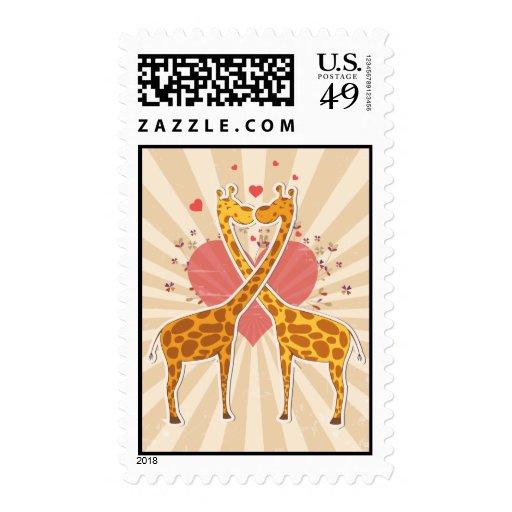 Cute Giraffe Love Postage