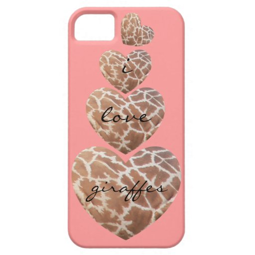 Cute Giraffe Lover's iPhone (on pink) iPhone 5/5S Covers