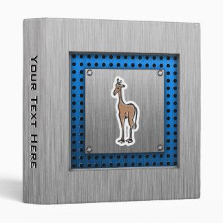 Cute Giraffe; Metal-look 3 Ring Binders