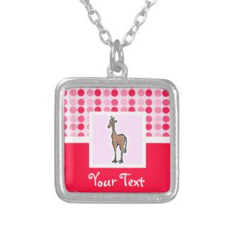 Cute Giraffe Square Pendant Necklace
