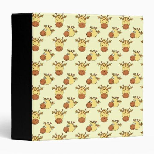 Cute Giraffe Pattern. Cartoon Animals. Vinyl Binders
