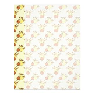 Cute Giraffe Pattern. Cartoon Animals. Letterhead