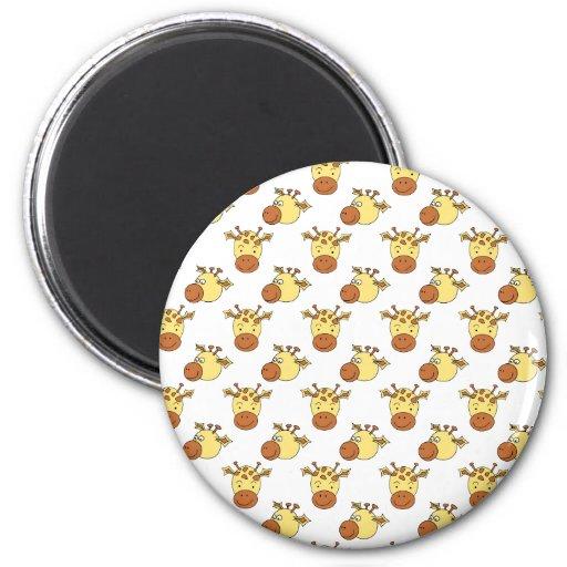 Cute Giraffe Pattern. Fridge Magnet