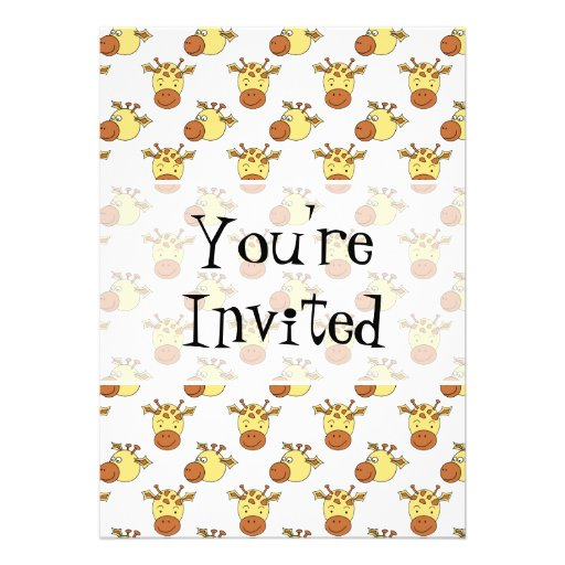 Cute Giraffe Pattern. Invitation