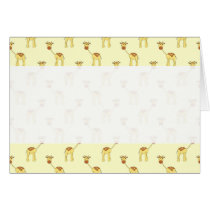 Cute Giraffe Pattern on Yellow.