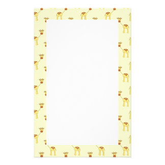 Cute Giraffe Pattern on Yellow. Stationery