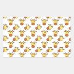 Cute Giraffe Pattern. Rectangular Stickers