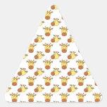 Cute Giraffe Pattern. Triangle Stickers