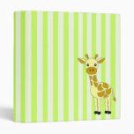 Cute Giraffe Photo Binder / School Binder