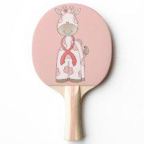 Cute Giraffe Ping-Pong Paddle