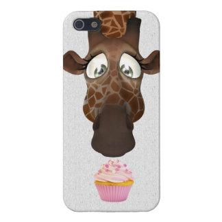 Cute Giraffe Pink Cupcake iPhone 5 Cover